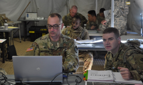 Army Chaplain Candidates in Class
