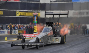 U.S. Army Racing NHRA Top Fuel dragster flies off the starting line